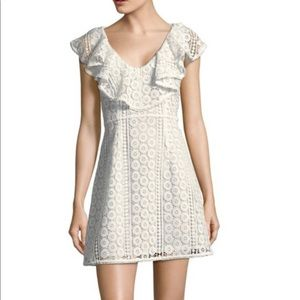 French Connection Massey Dress Size 0 white lace